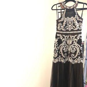 BCBGMAXAZRIA Black Gown Dress. Like new!